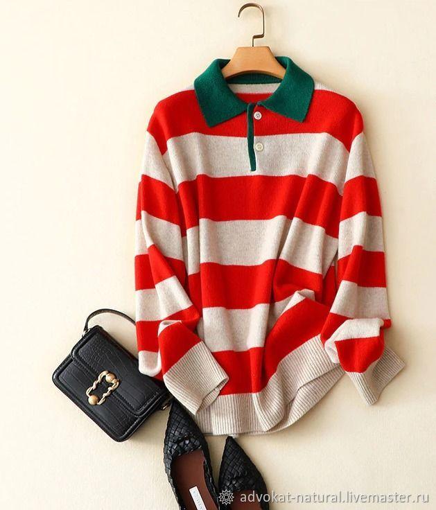 Wide-stripe cashmere Polo, T-shirt, Ekaterinburg,  Фото №1