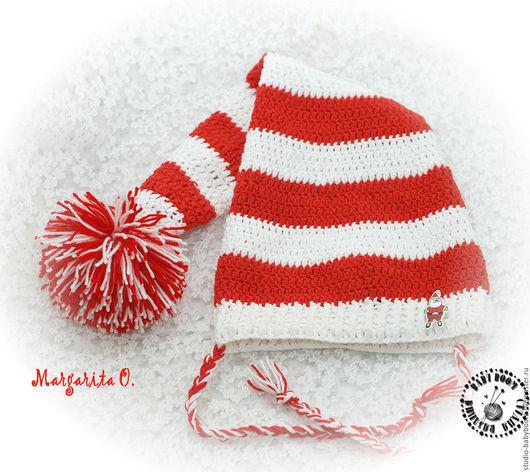 Для новорожденных, ручной работы. Ярмарка Мастеров - ручная работа. Купить Шапочка колпачок, шапочка для фотосессии, шапочка гномик. Handmade.