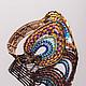 Браслет `Павлинье перо`, Ирина Васильева (Irina Vasilieva Exclusive Jewelry)