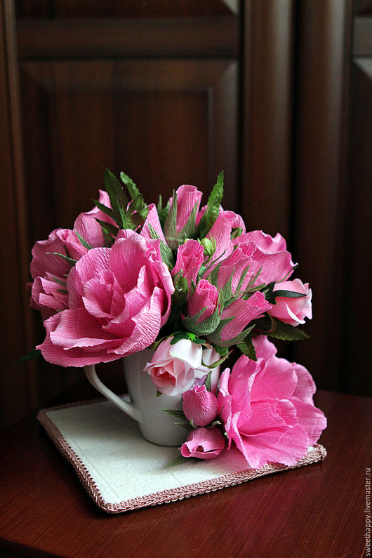 Букеты ручной работы. Ярмарка Мастеров - ручная работа. Купить Розовые розы. Handmade. Комбинированный, сладкий подарок, сладости