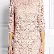 Одежда handmade. Livemaster - original item Straight a-line dress made of lace MIDI, Maxi and mini. Handmade.
