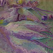 Аксессуары ручной работы. Ярмарка Мастеров - ручная работа Валяный шарф Травы да цветы(2). Handmade.