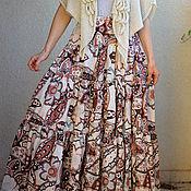 Одежда ручной работы. Ярмарка Мастеров - ручная работа Длинная летняя юбка цветочный принт. Handmade.