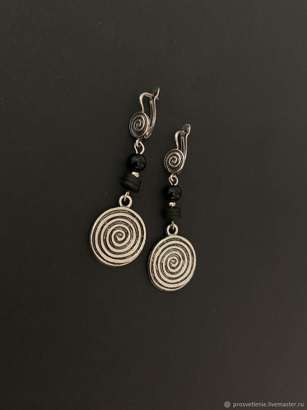 Classic earrings: stylish metal earrings, boho style earrings, Earrings, Voronezh,  Фото №1