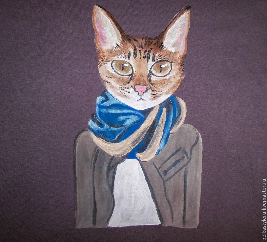 Картинка кот модный