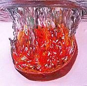 Картины и панно ручной работы. Ярмарка Мастеров - ручная работа Натюрморт с гранатом.Масло. Handmade.