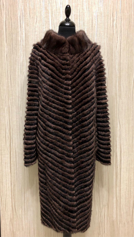 Fur coat ' coffee color', Coats, Moscow,  Фото №1