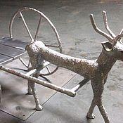 Экстерьерные ручной работы. Ярмарка Мастеров - ручная работа Скульптура «Оленья колесница». Micaer-art.. Handmade.