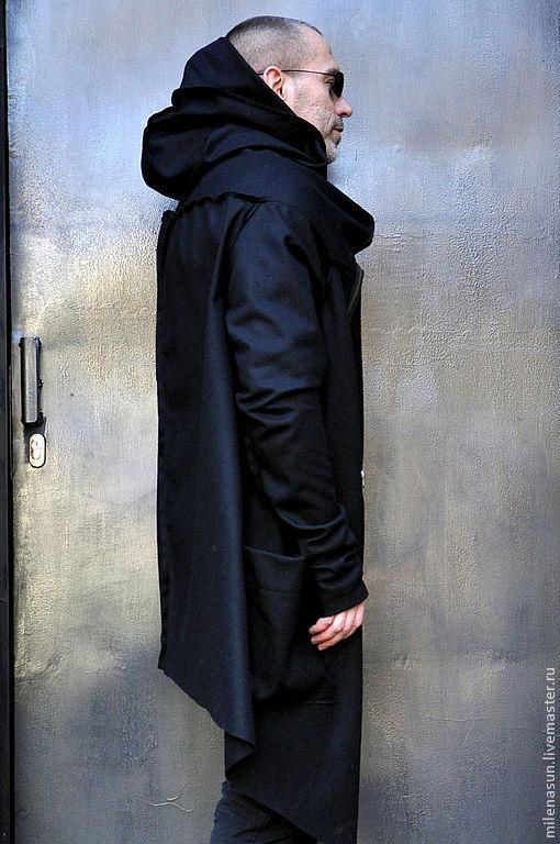Мужское пальто, черное пальто, пальто
