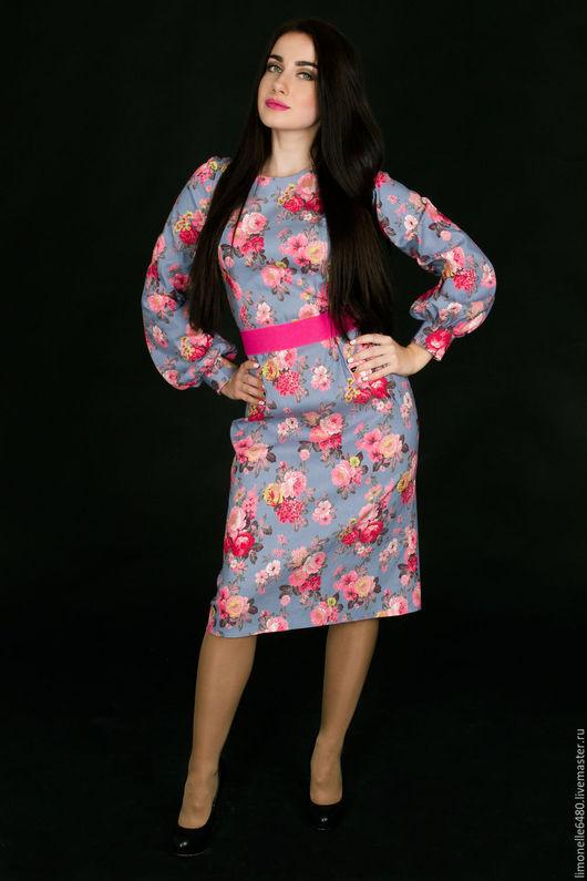 Платья ручной работы. Ярмарка Мастеров - ручная работа. Купить Платье джинс. Ткань закончилась. Handmade. Цветочный, джинсовое платье
