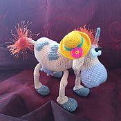 Мягкие игрушки ручной работы. Ярмарка Мастеров - ручная работа Корова, вязаная игрушка. Handmade.
