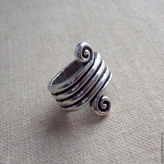 Бусина регализ (regaliz) для кожаного, текстильного, силиконового или плетеного браслета. Бусина регализ (regaliz) предназначена для создания браслетов и колье регализ. Купить бусину регализ
