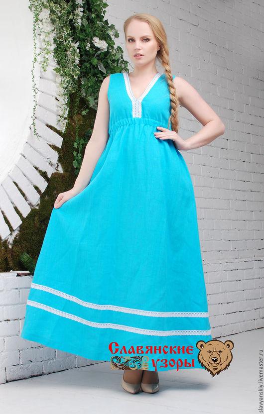 """Платья ручной работы. Ярмарка Мастеров - ручная работа. Купить Платье """"Жива"""" бирюзовое. Handmade. Голубой, платье голубое"""