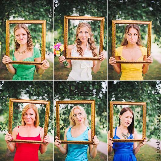 Платья ручной работы. Ярмарка Мастеров - ручная работа. Купить Платья-трансформеры для подружек невесты разноцветные. Handmade. Однотонный