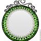 Интересное исполнение зеркала с мозаикой украсит как Вашу прихожую, так и органично впишется в любой дачный интерьер.