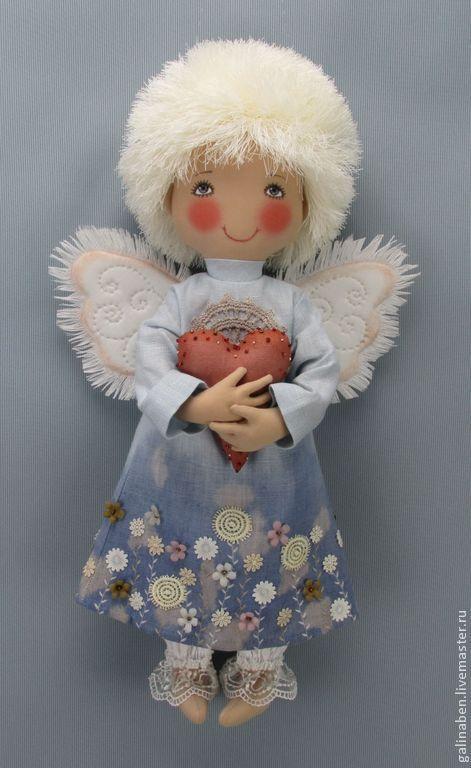Коллекционные куклы ручной работы. Ярмарка Мастеров - ручная работа. Купить Текстильная кукла Ангел. Handmade. Текстильная кукла, лён