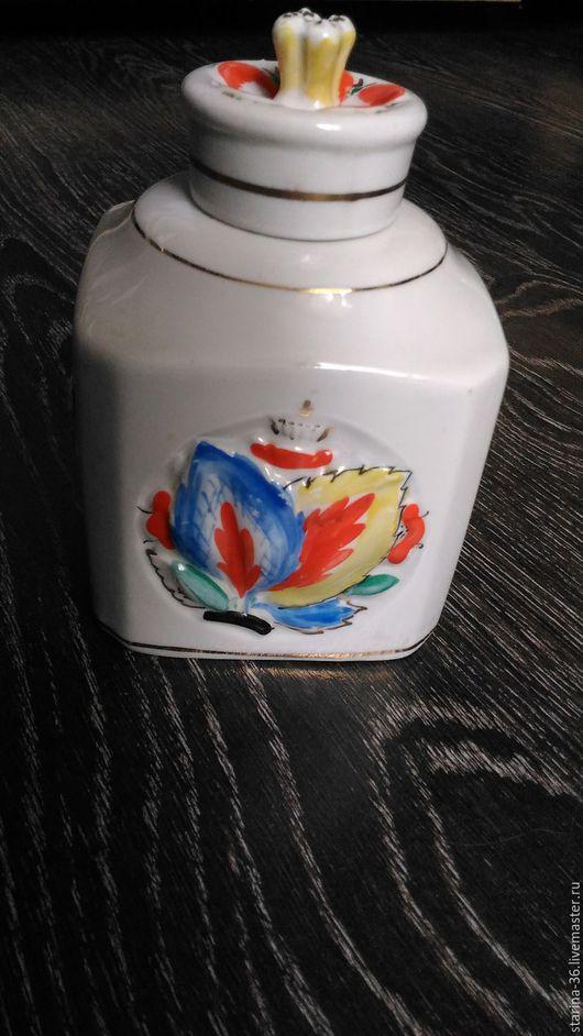 """Винтажная посуда. Ярмарка Мастеров - ручная работа. Купить Чайница """" Кубическая"""" Лфз. Фарфор. Handmade. Комбинированный"""