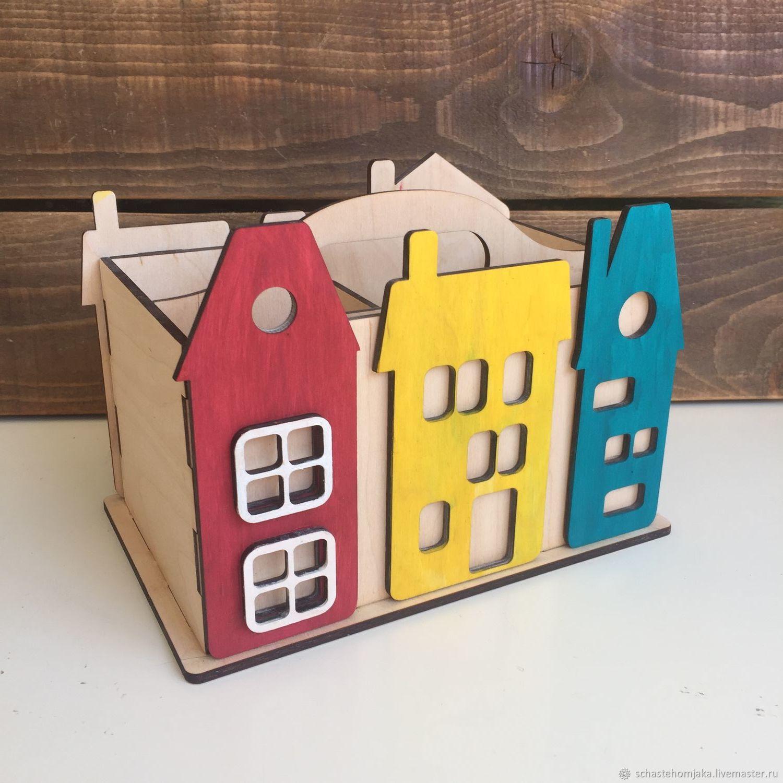 Pencil Box 'Houses 2», Basket, Petrozavodsk,  Фото №1