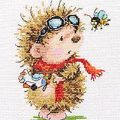 """Картины и панно ручной работы. Ярмарка Мастеров - ручная работа Вышивка """"Буду летчиком!"""" (готовая работа). Handmade."""