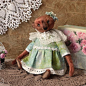 Куклы и игрушки ручной работы. Ярмарка Мастеров - ручная работа Плюшевая мишка Дуняша. Handmade.