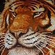 Тигрица с тигрёнком-символ оберега для вашего малыша. По Вашему желанию оформление в багет.