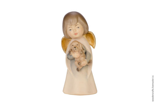 Статуэтки ручной работы. Ярмарка Мастеров - ручная работа. Купить Ангел с щенком. Handmade. Комбинированный, лик ангела, 8 марта