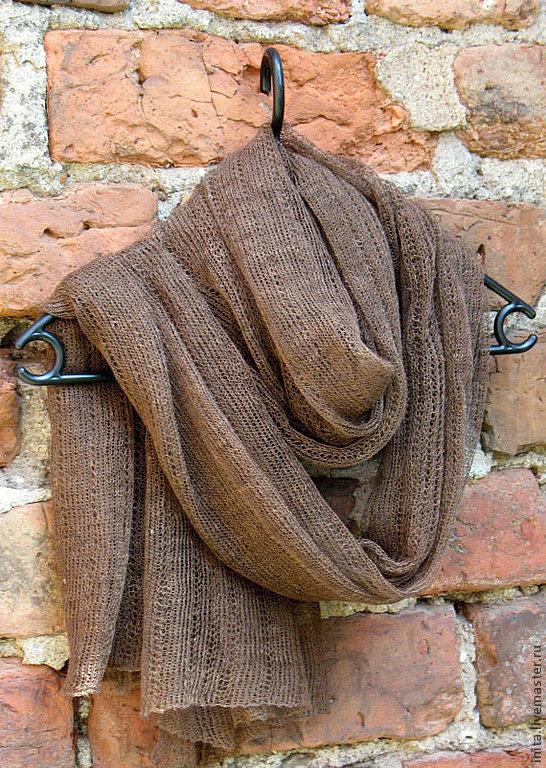 Scarf linen brown (72cmx 200cm), Wraps, Jelgava,  Фото №1