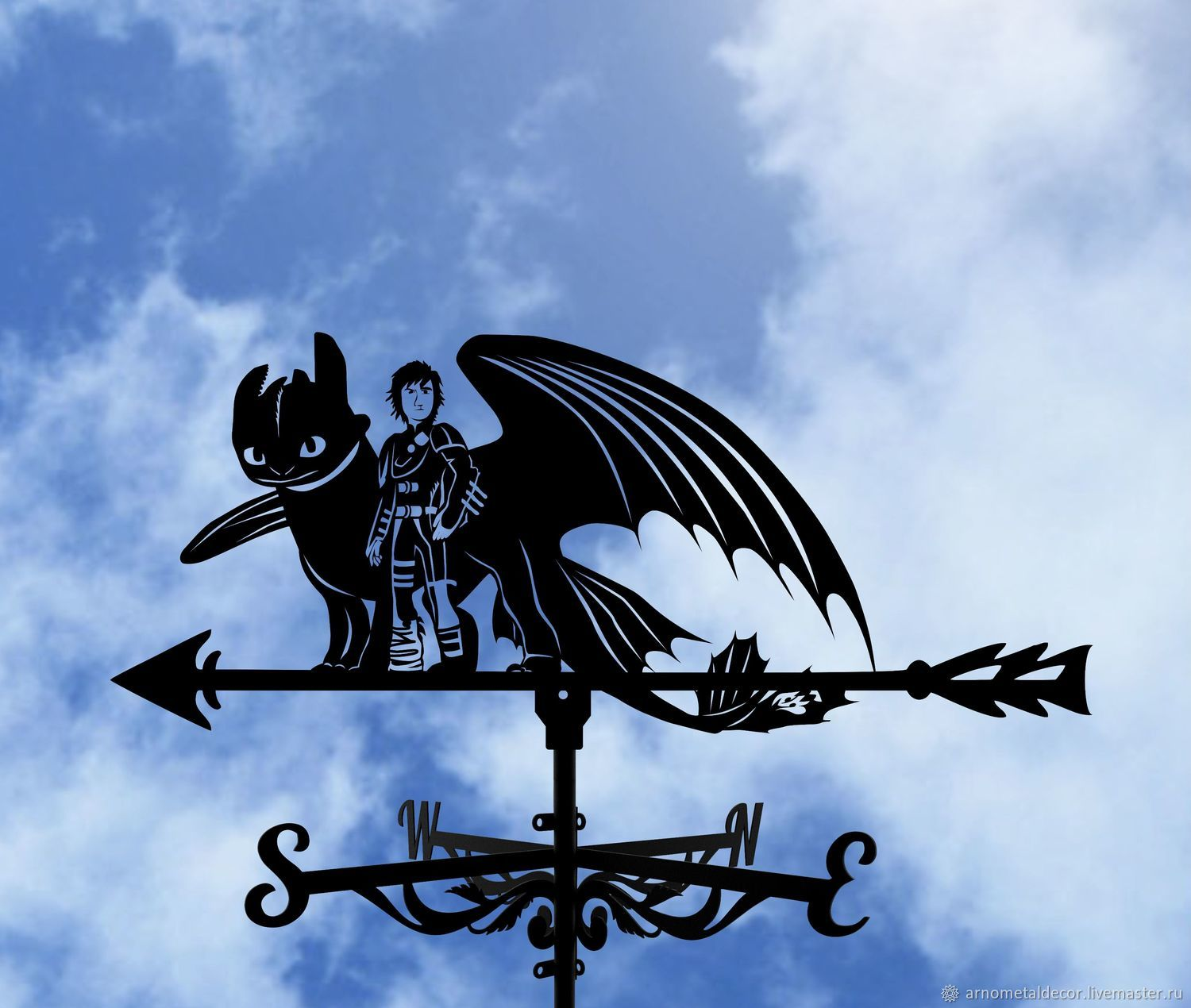 Weather vane on the roof 'How to train a dragon', Vane, Ivanovo,  Фото №1