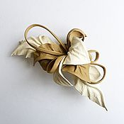 Украшения handmade. Livemaster - original item Barrette hair clip flower Creme Brulee beige cream ivory. Handmade.