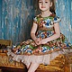 """Одежда для девочек, ручной работы. Платье для девочки """"Мими Мишки"""". Yansons Domik (yansonsdomik). Интернет-магазин Ярмарка Мастеров. Рисунок"""