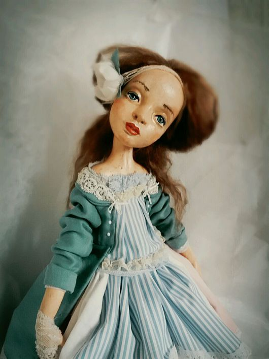 """Коллекционные куклы ручной работы. Ярмарка Мастеров - ручная работа. Купить Авторская кукла """"Алиса"""". Handmade. Тёмно-зелёный"""