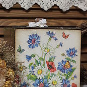 """Для дома и интерьера ручной работы. Ярмарка Мастеров - ручная работа Короб """" Полевые цветы """". Handmade."""