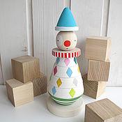 """Куклы и игрушки ручной работы. Ярмарка Мастеров - ручная работа разноцветная пирамидка """"Клоун"""". Handmade."""