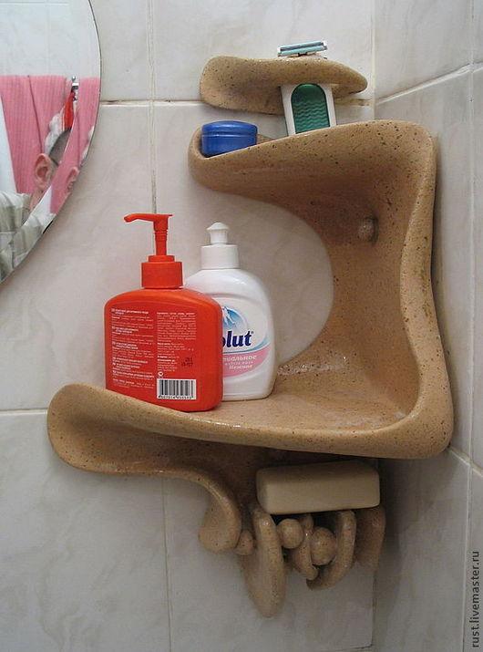 Мебель ручной работы. Ярмарка Мастеров - ручная работа. Купить Керамические полочки для ванной комнаты. Handmade. Бежевый, ручная работа