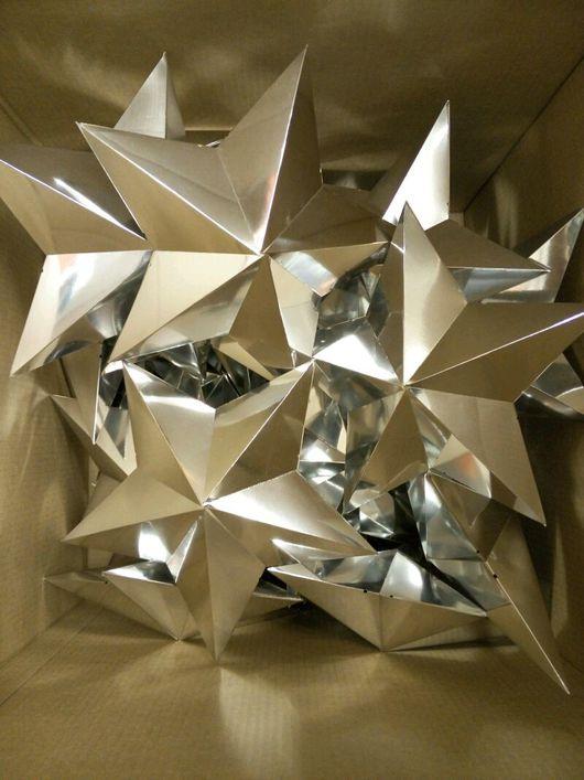 Персональные подарки ручной работы. Ярмарка Мастеров - ручная работа. Купить Звезды из картона. Handmade. Серебряный, бумага