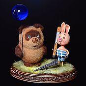 Мини фигурки и статуэтки ручной работы. Ярмарка Мастеров - ручная работа Винни-Пух и Пятачок. Handmade.