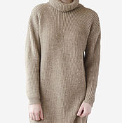 Одежда handmade. Livemaster - original item Wool dress large knitted. Handmade.