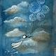 Текстильный купон `В облаках`