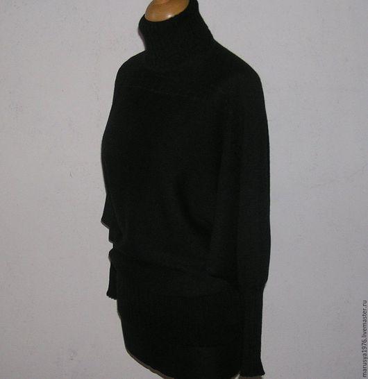 Кофты и свитера ручной работы. Ярмарка Мастеров - ручная работа. Купить Летучая мышь. Handmade. Черный, женская одежда вязаная