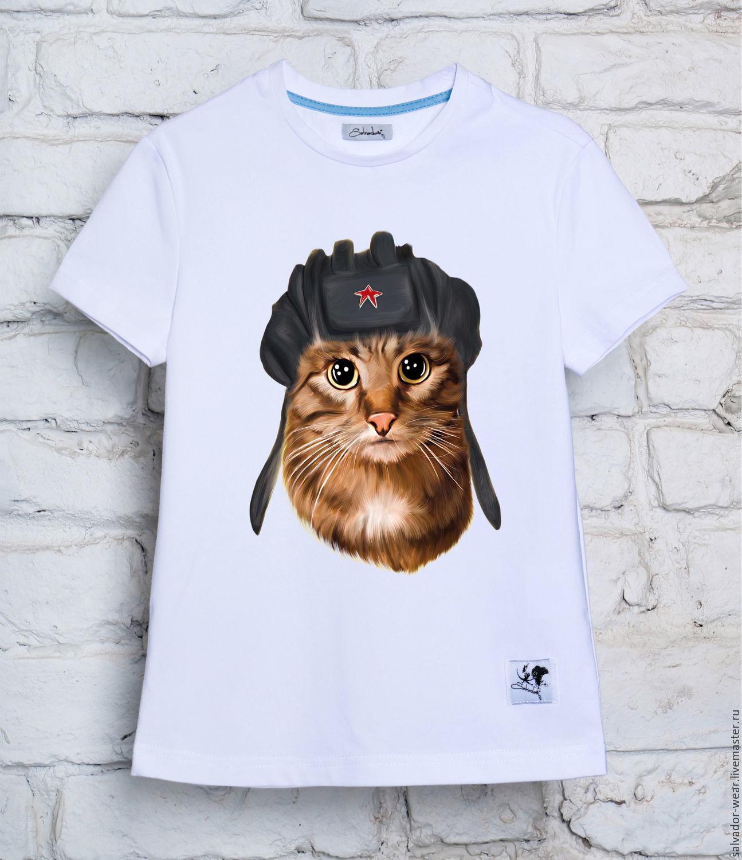 Кот на футболке своими руками фото 28