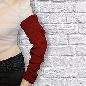 Аксессуары ручной работы. Ярмарка Мастеров - ручная работа Рукава вязаные Митенки-рукава эластичные. Handmade.