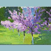 Картины и панно handmade. Livemaster - original item Peaches in bloom. Oil painting. Handmade.