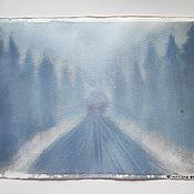 """Картины ручной работы. Ярмарка Мастеров - ручная работа Картина в смешанной технике """"Неизвестность"""". Handmade."""