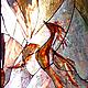 Элементы интерьера ручной работы. Витраж в дверь Феникс. Светлана Шестова (eliro). Интернет-магазин Ярмарка Мастеров. Феникс, дверь