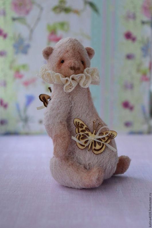 Мишки Тедди ручной работы. Ярмарка Мастеров - ручная работа. Купить Мишка Ловец бабочек. Handmade. Кремовый, handmade