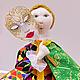 Сказочные персонажи ручной работы. кукла Арлекин. Оксана Бредихина. Ярмарка Мастеров. Арлекин, американский хлопок, вощёный шнур
