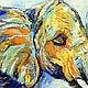 """Животные ручной работы. Картина со слонами """"Я Тебя Люблю"""" картина слон. ЯРКИЕ КАРТИНЫ Наталии Ширяевой. Интернет-магазин Ярмарка Мастеров."""