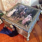 Для дома и интерьера ручной работы. Ярмарка Мастеров - ручная работа Шкатулка деревянная Встреча. Handmade.
