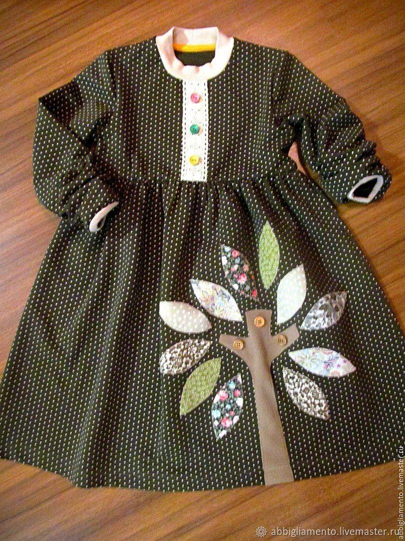 """Одежда для девочек, ручной работы. Ярмарка Мастеров - ручная работа. Купить Платье """"Деревце"""". Handmade. Аппликация, платье на заказ, кружево"""