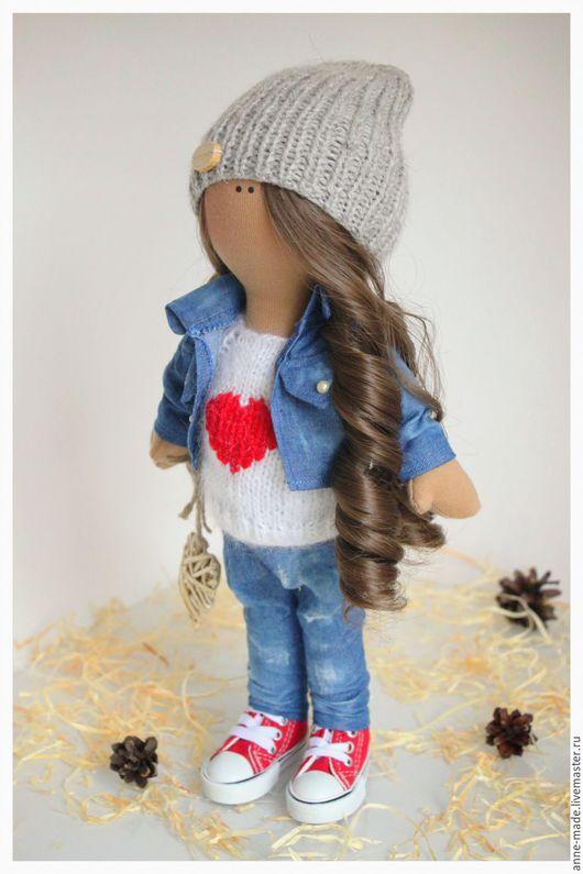 Человечки ручной работы. Ярмарка Мастеров - ручная работа. Купить Текстильная интерьерная кукла Monica. Handmade. Комбинированный, кукла интерьерная